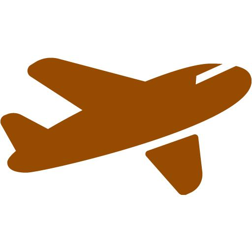 Airplane clipart brown Airplane airplane Brown 11 icon