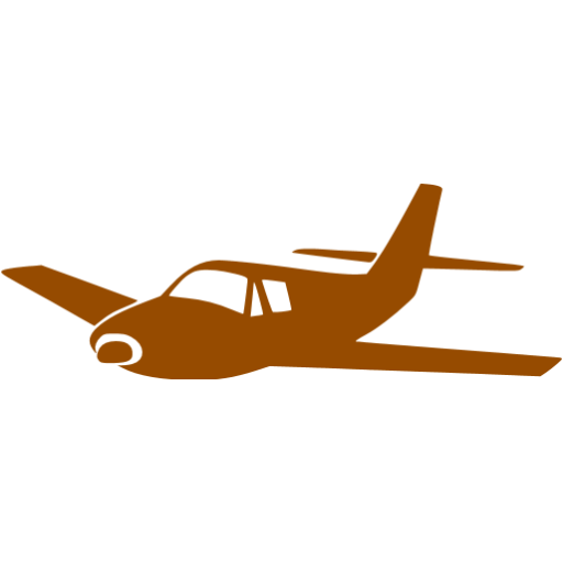 Airplane clipart brown Icon airplane Free brown icons