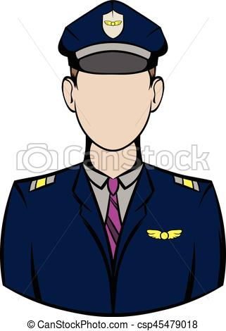 Airplane clipart captain Of aircraft of csp45479018 Art