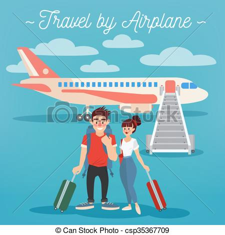 Airplane clipart couple #3