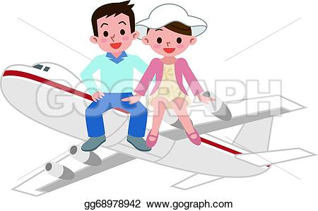 Airplane clipart couple #4