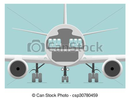 Airplane clipart cross section Of  Fuselage section illustration