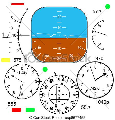 Airplane clipart dashboard Vector Cockpit in Royalty a