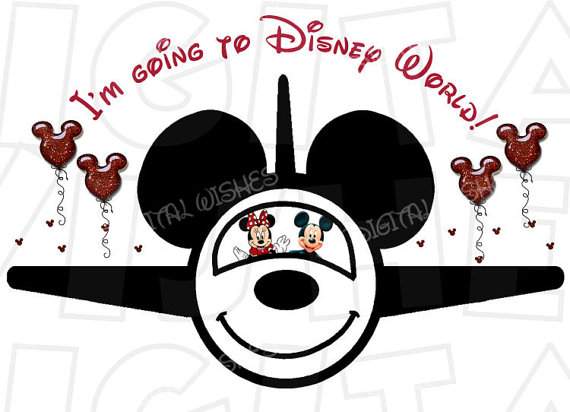 Airplane clipart disney Going I'm Mouse World to