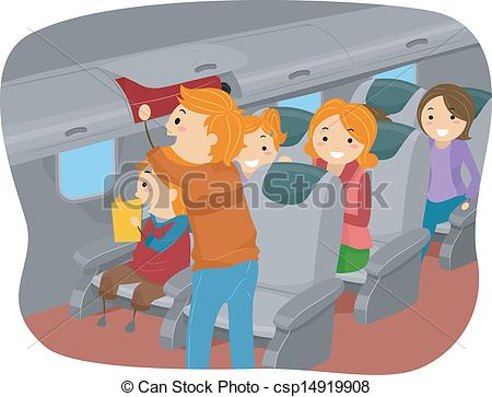 Airplane clipart family Csp14919908 Stickman Clipart Inside