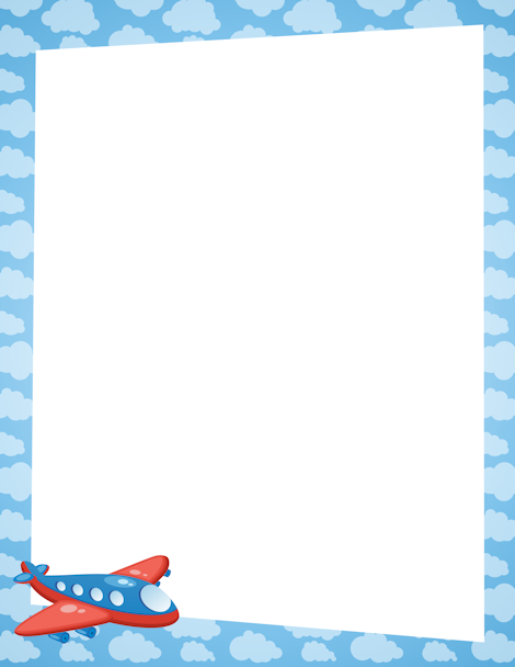 Clouds clipart simple At border Airplane http://pageborders Free
