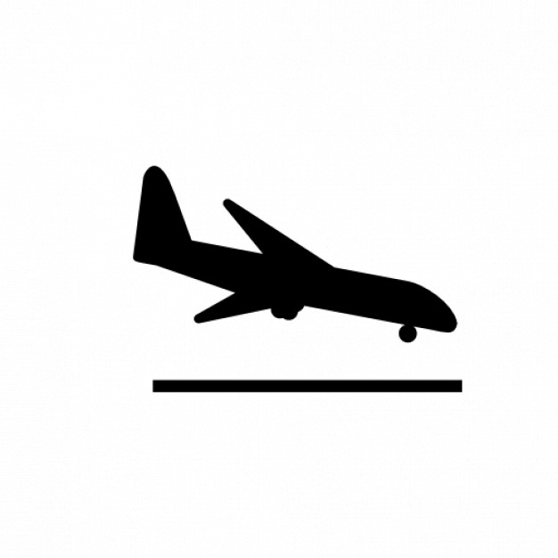 Drawn aircraft airplane landing #8