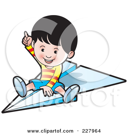 Airplane clipart person #5