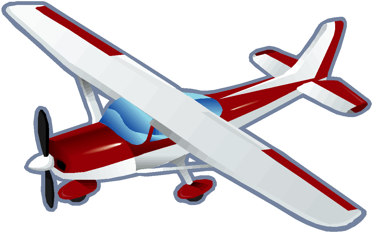 Airplane clipart person #6
