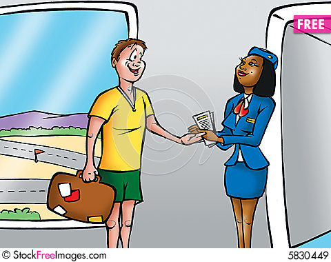 Airplane clipart person #7