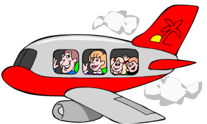 Airplane clipart person #4
