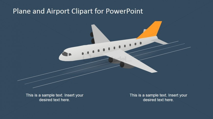 Airplane clipart powerpoint PowerPoint Clipart Plan SlideModel from