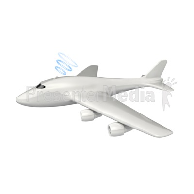 Airplane clipart powerpoint Wireless  PowerPoint Clip Communication