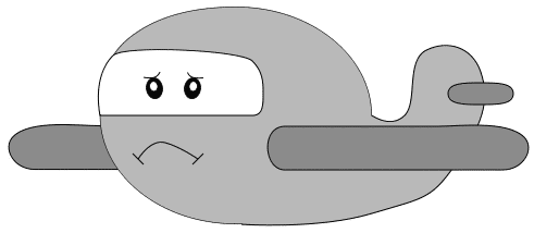 Html /cartoon/assorted/airplane_with_face  sad png