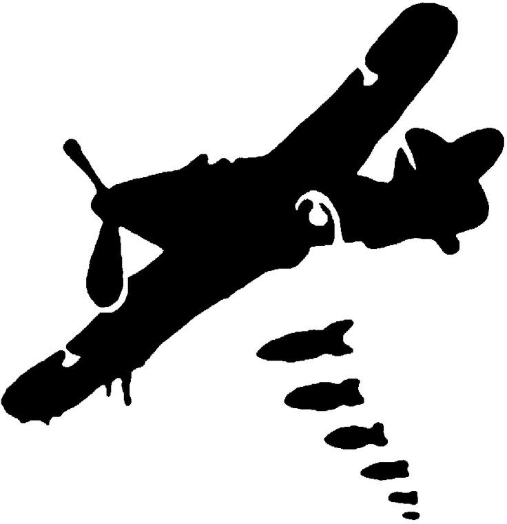 Airplane clipart stencil #8