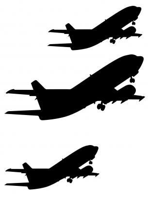 Airplane clipart stencil #5
