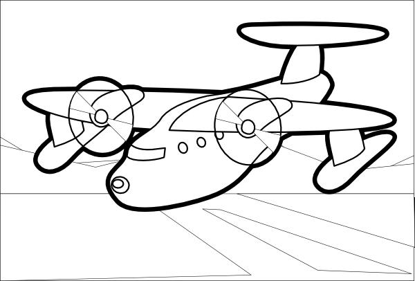 Airplane clipart stencil #3
