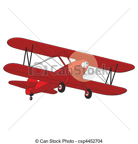 Airplane clipart vintage red  airplane editable Airplane illustration