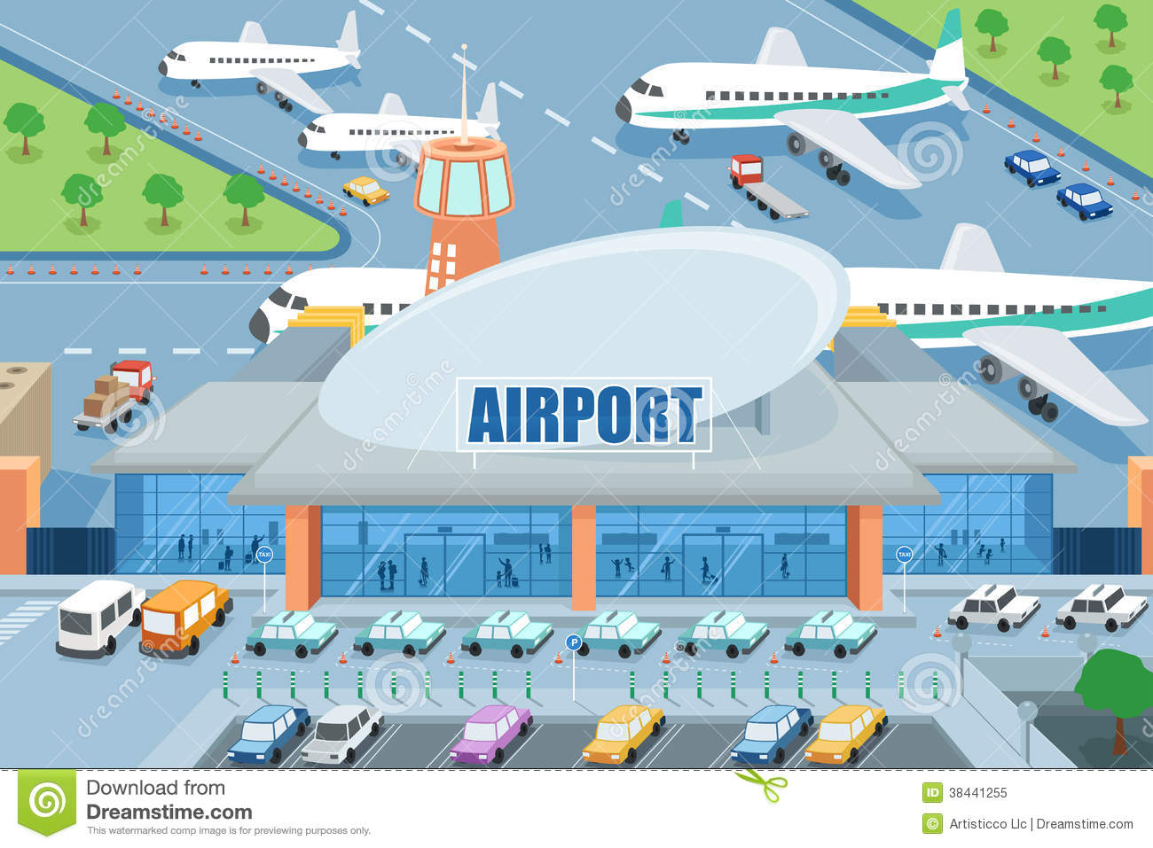 Airport clipart #4