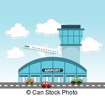 Airport clipart Art vector Airport  terminal