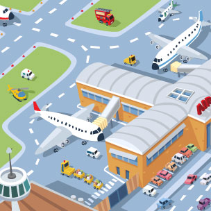 Airport clipart #6