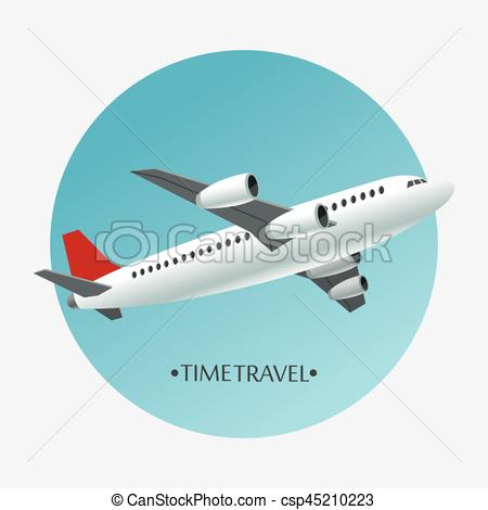 Aviation clipart travel Time of airplane travel airport