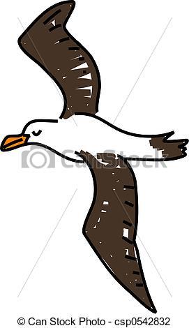 Brds clipart albatross White Illustration isolated albatross