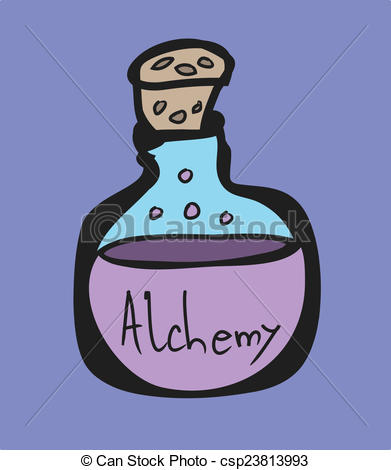Alchemy clipart Alchemy symbols Stock cartoon Test