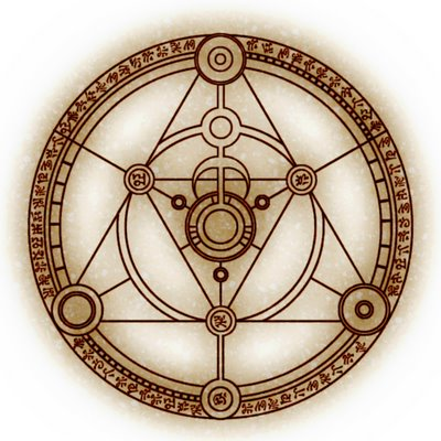 Alchemy clipart circle The Clip Arcanists white and