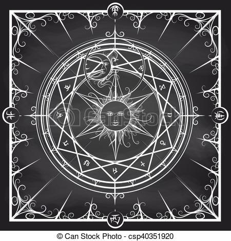 Alchemy clipart circle Circle Alchemy chalkboard circle background