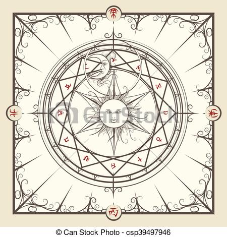 Alchemy clipart circle Circle on background Art magic