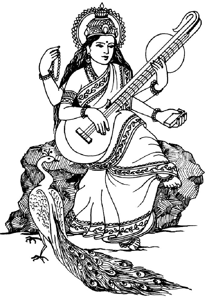 Alchemy clipart coloring book 55 images saraswati best color: