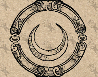 Alchemy clipart moon #1