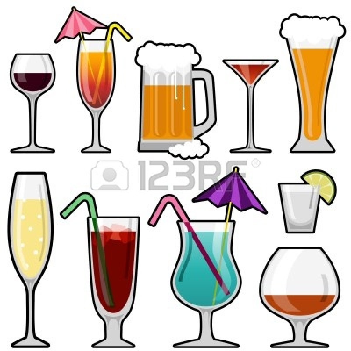 Drink clipart retro cocktail Panda Alcohol Clipart Free Clip