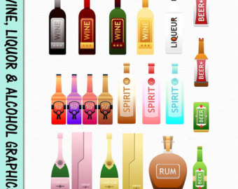 Beverage clipart beer Digital Liquor Alcohol Transparent Scrapbook