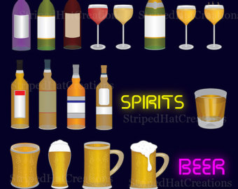 Boose clipart beer glass Eps Alcohol 17 Etsy Liquor
