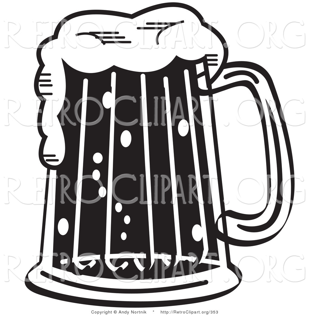 Bar clipart alcohol Retro Black White Royalty Free