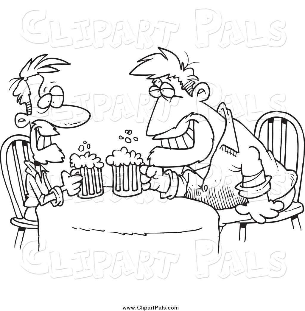 Alcohol clipart black and white #6