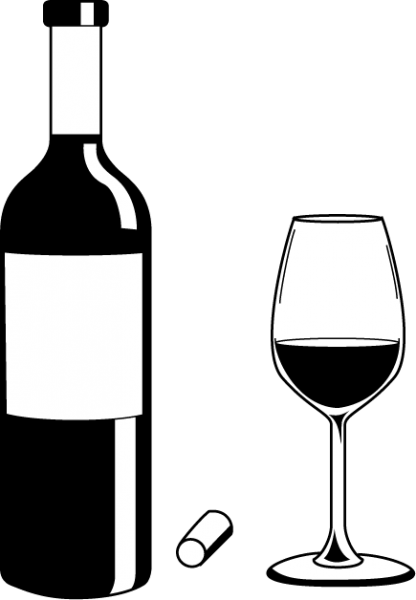 Alcohol clipart black and white #7