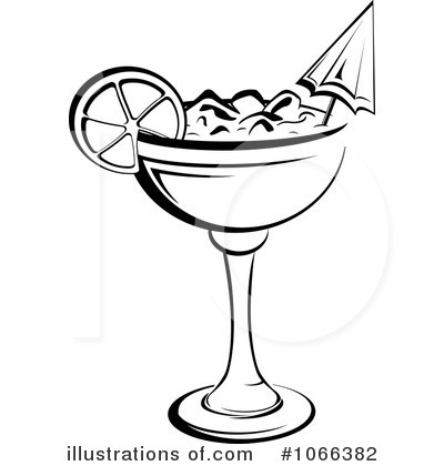 Alcohol clipart black and white #8