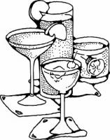 Alcohol clipart black and white #11