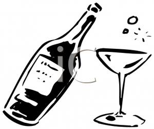 Alcohol clipart black and white #2