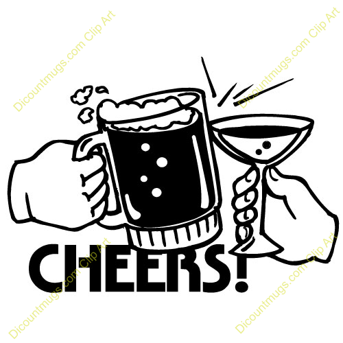 Drawn beer beer cheer Art and Inspiration Cheers Clipart