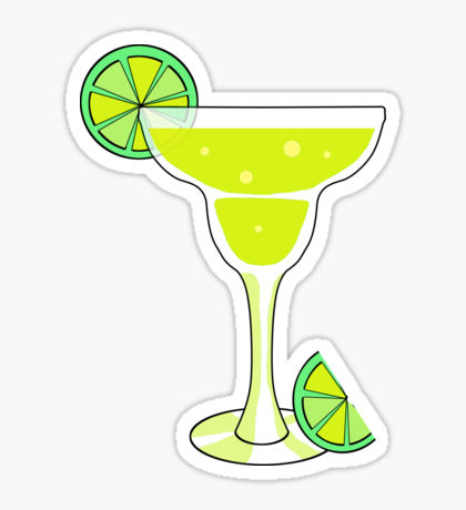 Alcohol clipart cocktail hour Sticker Redbubble Cocktail Stickers Margarita