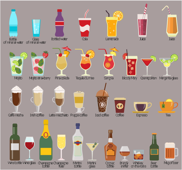 Straw clipart straight Beverages Beverages elements Design Beverage