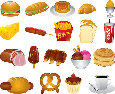 Beverage clipart food and beverage Vector various food Non (61