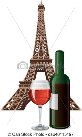 Alcohol clipart french wine Of bottle bottle of french