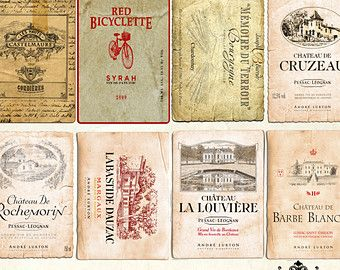 Alcohol clipart french wine Pin about Labels this 20