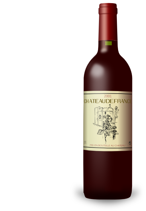 Alcohol clipart french wine French image bottle alcohol #19732