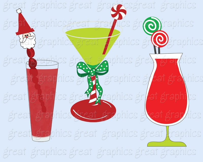 Alcohol clipart holiday cocktail Border Kid Clip Clipart Martini
